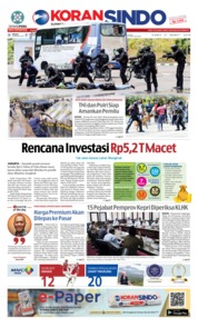 Cover KORAN SINDO BATAM 21 Maret 2019