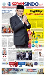 Cover KORAN SINDO BATAM 23 Maret 2019