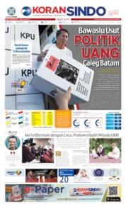 KORAN SINDO BATAM Cover 16 April 2019
