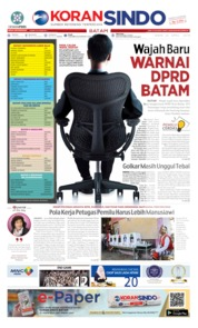 Cover KORAN SINDO BATAM 22 April 2019
