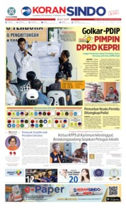 KORAN SINDO BATAM Cover 23 April 2019