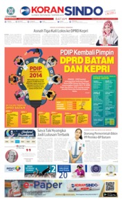 KORAN SINDO BATAM Cover 14 May 2019