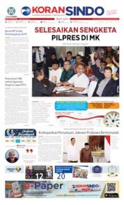 Cover KORAN SINDO BATAM 25 Mei 2019
