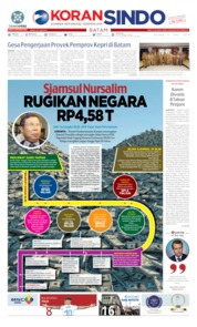 KORAN SINDO BATAM Cover 11 June 2019