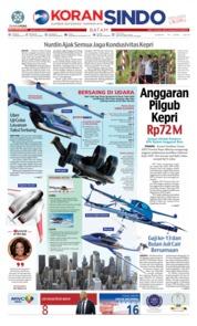 KORAN SINDO BATAM Cover 14 June 2019
