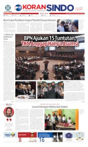 KORAN SINDO BATAM Cover 15 June 2019