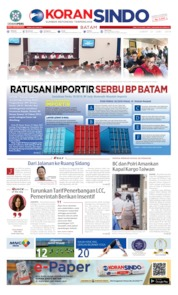 KORAN SINDO BATAM Cover 21 June 2019