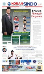 KORAN SINDO BATAM Cover 24 June 2019