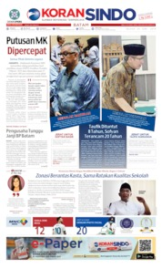KORAN SINDO BATAM Cover 25 June 2019
