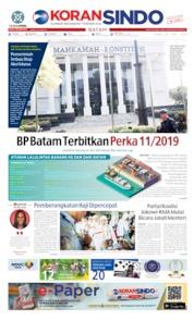 Cover KORAN SINDO BATAM 26 Juni 2019