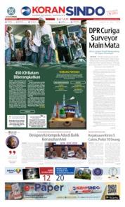 Cover KORAN SINDO BATAM 06 Juli 2019