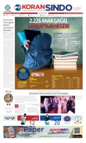 Cover KORAN SINDO BATAM 08 Juli 2019