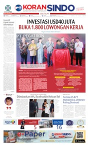 Cover KORAN SINDO BATAM 10 Juli 2019