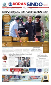 KORAN SINDO BATAM Cover 12 July 2019