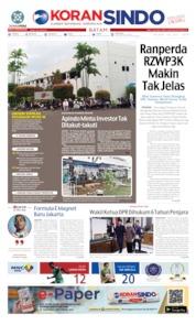 Cover KORAN SINDO BATAM 16 Juli 2019
