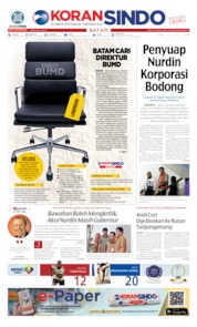 KORAN SINDO BATAM Cover 17 July 2019