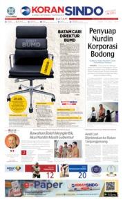 Cover KORAN SINDO BATAM 17 Juli 2019