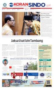 Cover KORAN SINDO BATAM 18 Juli 2019