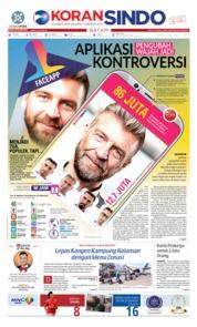 Cover KORAN SINDO BATAM 20 Juli 2019