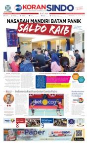 Cover KORAN SINDO BATAM 21 Juli 2019