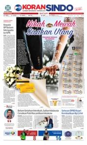 Cover KORAN SINDO BATAM 23 Juli 2019