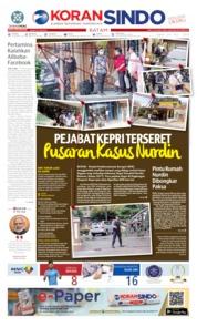 Cover KORAN SINDO BATAM 24 Juli 2019