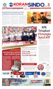 KORAN SINDO BATAM Cover 14 August 2019