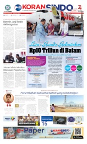 KORAN SINDO BATAM Cover 15 August 2019