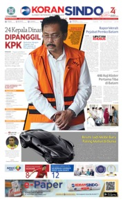 KORAN SINDO BATAM Cover 19 August 2019