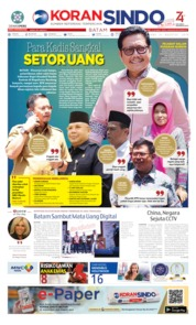 KORAN SINDO BATAM Cover 21 August 2019