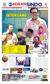 Cover KORAN SINDO BATAM 21 Agustus 2019