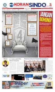 Cover KORAN SINDO BATAM 22 Agustus 2019