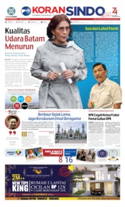 Cover KORAN SINDO BATAM 11 September 2019