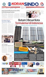 KORAN SINDO BATAM Cover 16 September 2019