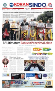 Cover KORAN SINDO BATAM 17 September 2019
