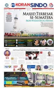 KORAN SINDO BATAM Cover 20 September 2019