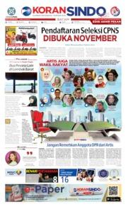 Cover KORAN SINDO BATAM 05 Oktober 2019