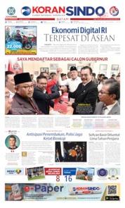 Cover KORAN SINDO BATAM 08 Oktober 2019
