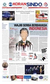 Cover KORAN SINDO BATAM 10 Oktober 2019