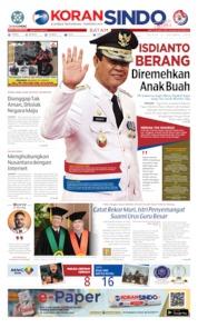 Cover KORAN SINDO BATAM 15 Oktober 2019
