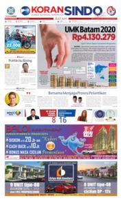 Cover KORAN SINDO BATAM 18 Oktober 2019