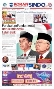 KORAN SINDO BATAM Cover 21 October 2019