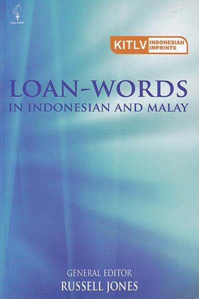 Loan-Words in Indonesian and Malay by Russell Jones Digital Book