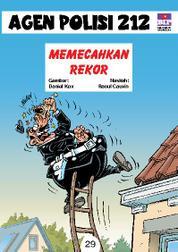 Cover Seri Agen Polisi 212 No.29: Memecahkan Rekor oleh