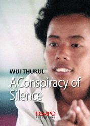 Cover Wiji Thukul, A Conspiracy of Silence oleh