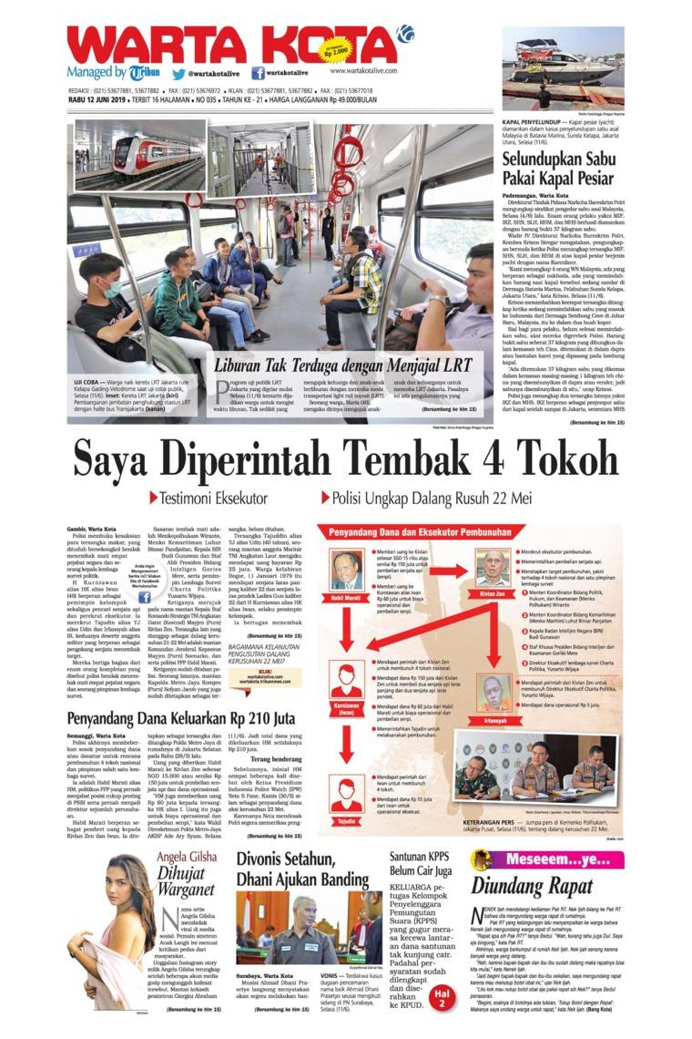 Koran Digital WARTA KOTA 12 Juni 2019