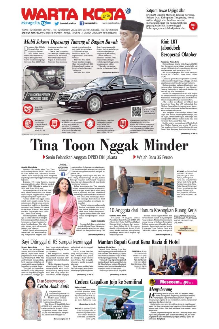 Koran Digital WARTA KOTA 24 Agustus 2019