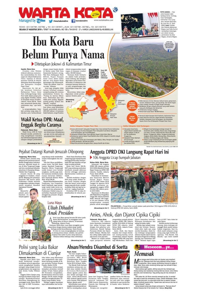 WARTA KOTA Digital Newspaper 27 August 2019