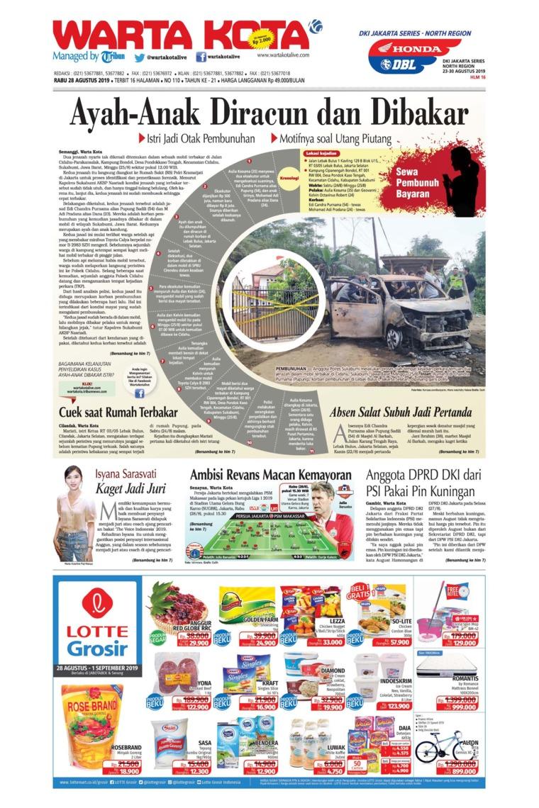 WARTA KOTA Digital Newspaper 28 August 2019