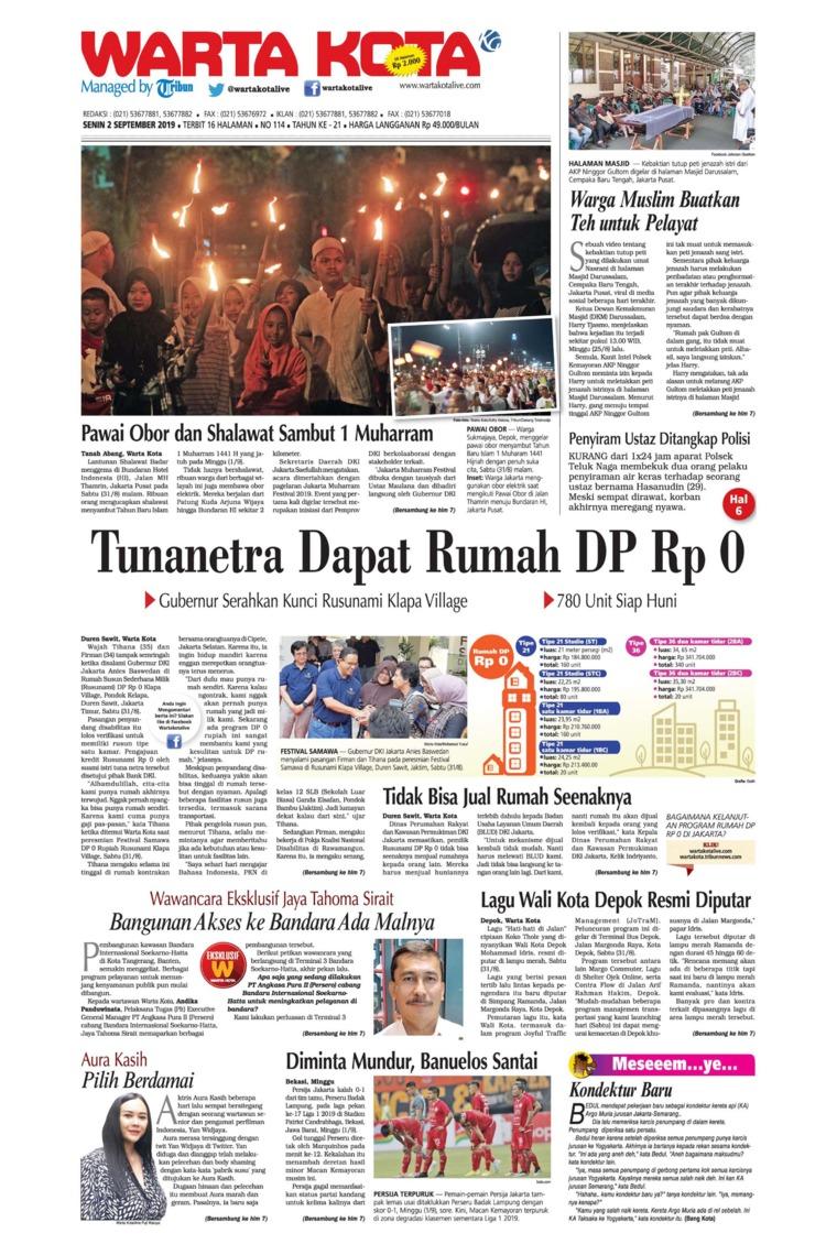 WARTA KOTA Digital Newspaper 02 September 2019